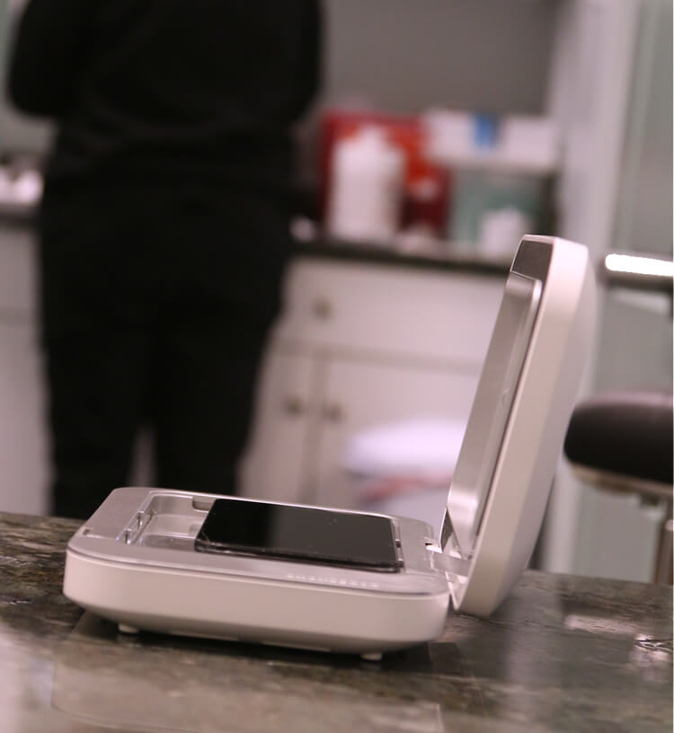 PhoneSoap helps to prevent micro-organisms from spreading!!