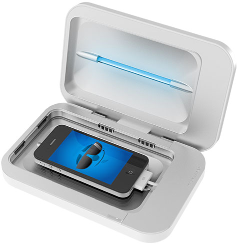 PhoneSoap Charger's UV light is completely safe for any product you put inside